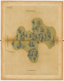 0006-75古地图1661-1681清浙江省青碧山水。泰顺县。纸本大小59.86*75.71厘米。宣纸原色微喷印制,按需印制不支持退货