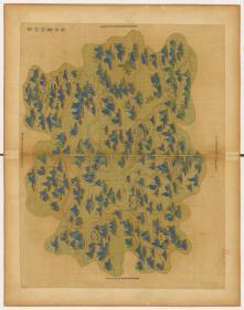 0006-76古地图1661-1681清浙江省青碧山水。处州府属全图。纸本大小59.86*75.71厘米。宣纸原色微喷印制,按需印制不支持退货