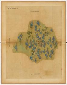 0006-77古地图1661-1681清浙江省青碧山水。处州府丽水县。纸本大小59.86*75.71厘米。宣纸原色微喷印制,按需印制不支持退货