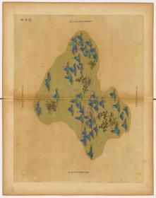 0006-78古地图1661-1681清浙江省青碧山水。青田县。纸本大小59.86*75.71厘米。宣纸原色微喷印制,按需印制不支持退货