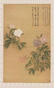 恽寿平 牡丹图。纸本大小55.32*89.49厘米。宣纸原色微喷印制,按需印制不支持退货