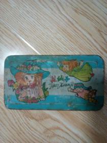 老文具盒 狮山牌铁皮文具盒