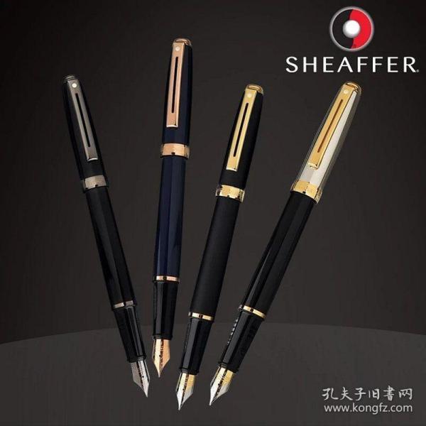 Sheaffer犀飞利Prelude序曲/前奏金属钢笔F尖,黑珐琅/深蓝珐琅/磨砂黑