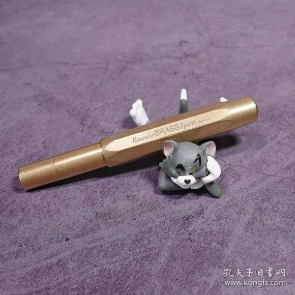 kaweco黄铜brass运动系列钢笔德国海淘进口,F尖,+上墨器+笔夹