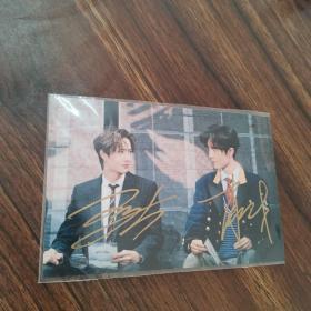 王一博,肖战签名照