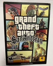 游戏光盘 侠盗猎车手圣安地列斯gtasa 美版 全新