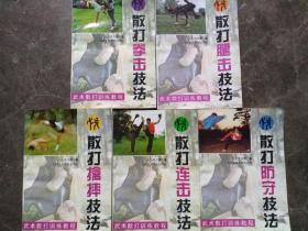 散打拳击技法、散打腿击技法、散打擒摔技法、散打连击技法、散打防守技法(一套五册合售)