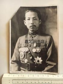 民国抗战时期原版老照片:张学良戎装照