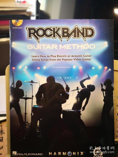 ROCKBAND GUITAR METHOD 摇滚乐队 吉他教程   (外文原版1CD)