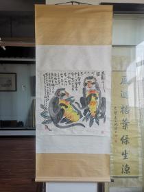 卖家保真,李燕《多寿图》 67cm*68cm ,设色纸本立轴 李燕,1943年生于北京。画家。清华大学美术学院教授,艺术大师李苦禅之子。