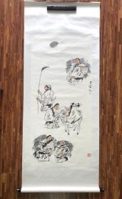 【卖家保真】李伟《人物》137cm*63cm,设色纸本立轴 李伟,男,汉族,1959年5月出生,中共党员,甘肃张掖人,中国美术家协会会员、一级美术师。现任甘肃画院院长。