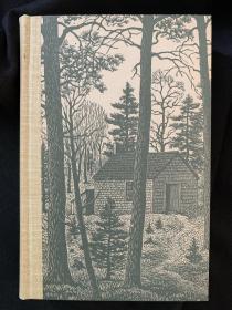 Walden《 瓦尔登湖》 thoreau 梭罗经典名著 heritage press 1939 年老版 精装版 Thomas Nason 精美木刻版画插图