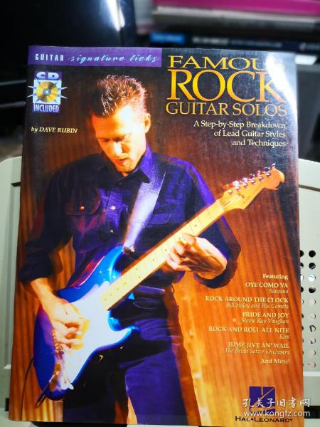 FAMOUS ROCK GUITAR  SOLOS  经典摇滚吉他 SOLOS详解 (1CD)