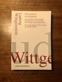 Philosophical Investigations 哲学研究【德英对照,近全新,译者 P.M.S.Hacker 曾是维特根斯坦的弟子】