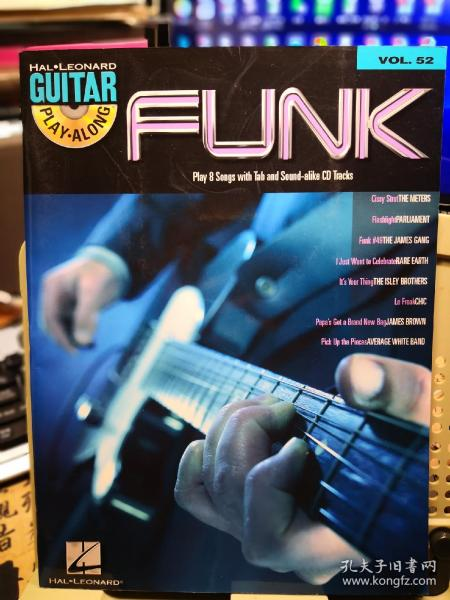 FUNK GUITAR  PIAY ALONG 放克 吉他 一起玩(1CD伴奏带)