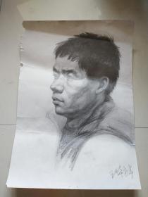 央美流出  王华祥 素描人物 手绘.