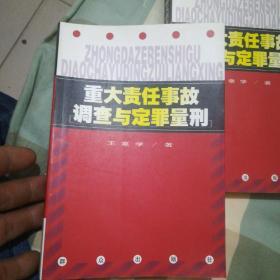 重大责任事故调查与定罪量刑【32开】