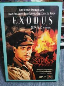 未拆 欧美 战争 电影 1碟 DVD-9 战国英雄 EXODUS 特别收藏版 保罗纽曼 英文语音英法西中字幕 博颖