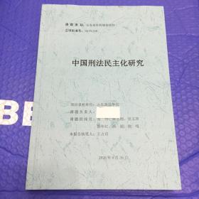 中国刑法民主化研究