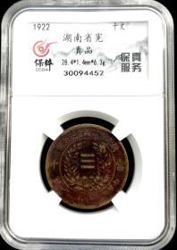 真品:民国湖南省宪成立十文铜元!