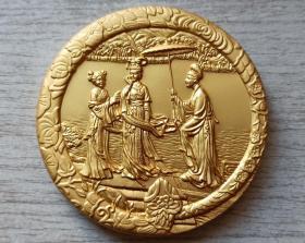 2013年中国投资担保有限公司生肖(白蛇传-蛇)镀金纪念章