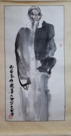 """刘国辉,斋号长乐轩,1940年出生,江苏苏州人。毕业于浙江美术学院中国画系研究生班,1981年毕业后留中国美术学院任教。长于人物画。曾任中国美术学院国画系主任、教授、博士生导师、院学术委员会副主任、苏州大学兼职教授、""""中国人物画高级研修班""""导师、中国美术家协会中国画艺委会委员、中国连环画研究会理事,获文化部优秀专家称号、国务院颁发的政府特别津贴、法兰西功勋和贡献奖、"""
