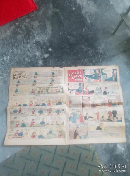 民国1935年美国发行的漫画报纸一份。