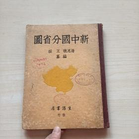 抗战时期精装本《新中国分省图》民国28年,初版
