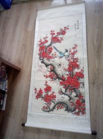中国国画家王齐 梅花