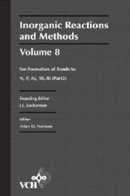 预订Inorganic Reactions & Methods V 8 - Formations Of Bonds To N, P, As, Sb, Bi Pt 2