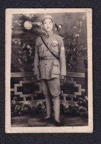 50年代绑腿公安警备军人老照片1张(尺寸约4*5.7厘米)1937