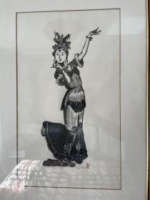 董其中版画《英娘舞姿》