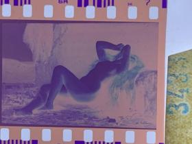 3433 年代老照片底片  裸女 艺术