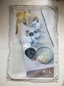 央美流出  陈丹青 油画人物 手绘.
