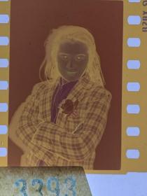 3393 年代老照片底片  长春电影制片厂演员 男扮女装 反串