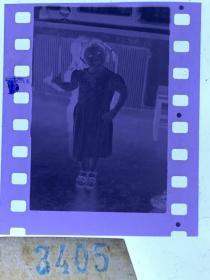 3405 年代老照片底片  小姑娘