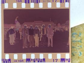 3412 年代老照片底片  长春地质宫前合影
