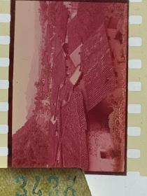 3438 年代老照片底片  江南山村