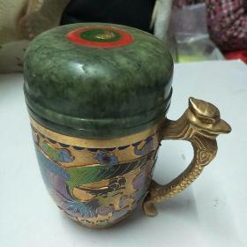 铜掐丝珐琅玉杯