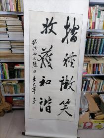 大幅己装裱<中国书法家协会会员,原盘锦是书协副主席王大军>书法作品