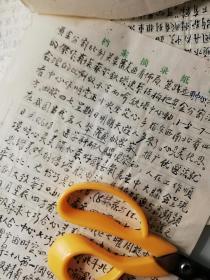 南京民国中医张义堂文稿:民国中医史2页码《在论中医道光明大同天