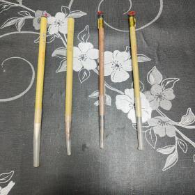 老毛笔,4支合售,