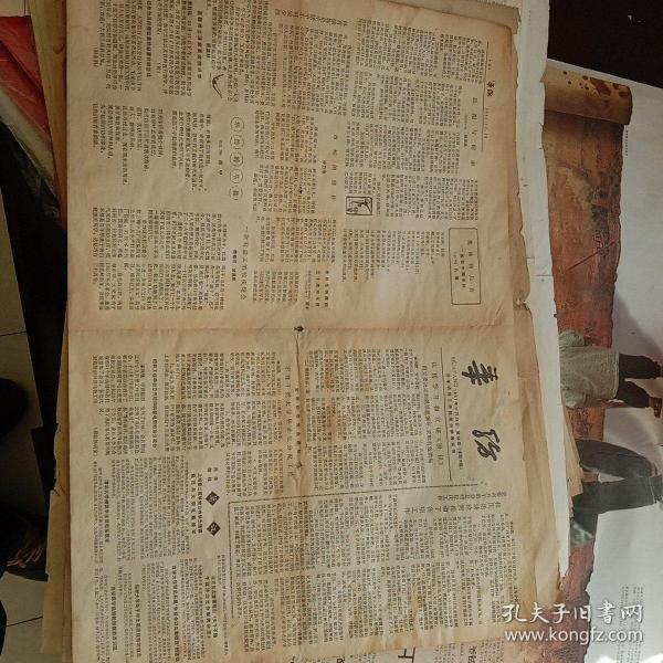 老报纸——华纺(华东纺织工学院院刊)1981-11-20日