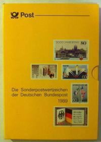 联邦德国1989年全年邮票年册 共40套 全新全品 外国邮票