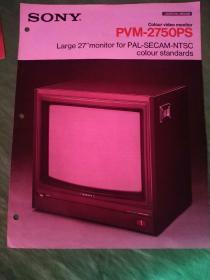 SONY索尼彩色视频监视器(电视机广告宣传册)