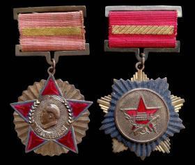 1954年全国人民慰问人民解放军代表团奖章及抗美援朝纪念章一对