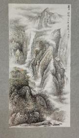 四川著名老画家 杨老 国画蜀中仙境 四尺整纸 画心原稿手绘真迹