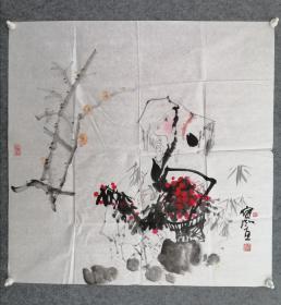程宝泓,人物画,中国美术学院教授 ,保真手绘作品