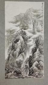 四川著名老画家 杨老 国画山水 金口河大峡谷小景 原稿手绘真迹 四尺画心