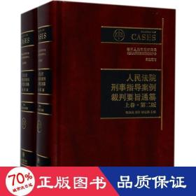 人民法院刑事指导案例裁判要旨通纂(上下卷 第二版)